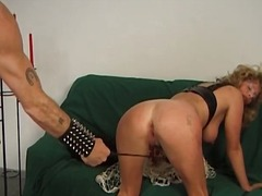 Busty MILF gets her ass spanked part5