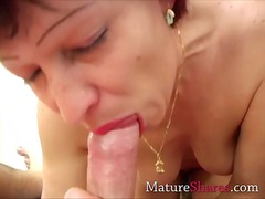 mature, grandma, blowjob, older