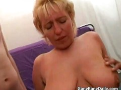 gangbang, orgy, group, blonde,