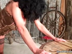 Extreme action with naked slave his a...
