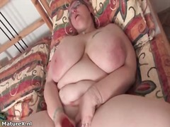 Fat busty mature woman...