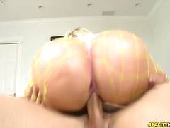 Gieselle rides that cock as her huge ...