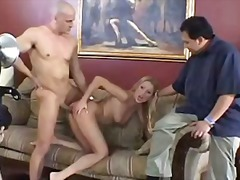 milf, hardcore, threesome, blonde,