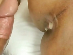 Exotic Shemale Jerks Off While Being Nailed