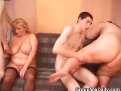 group, fat, gangbang, mature
