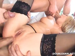 Double anal and gang b...