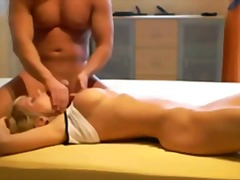 Hot blonde gets a big ... video