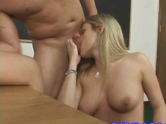 blonde, cunnilingus, finger,