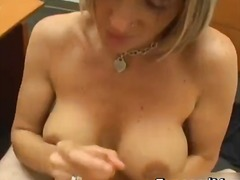 Dolled up mom gives excellent wank part6