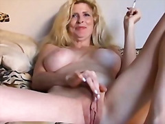 Beautiful blonde milf ... video