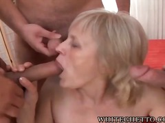 Horny granny with sagg...
