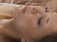 brunette, big, asian, mom, blowjob