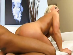 Horny blonde with big ...