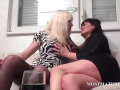 Lesbo mature couple to...