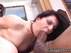 Hot mom sucking and fucking
