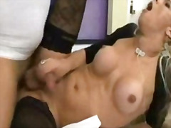 shemale, transvestite, cumshot,