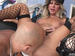 Naughty dirty blonde tranny cop ariel