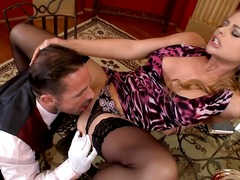 cathy heaven,  bed, creampie, gape,