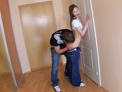 russian, boy, gaping, teen, brunette,