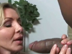 interracial, blowjob, blonde,