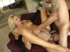 penetration, anal, blondes, piercing, double, gangbang, creampie