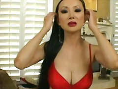 milf, asian, big, bald, facial