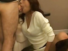 Threesome with asian g... video