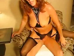 Hot milf fucked on chair