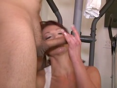 Provocative lusty seductive redhead c...