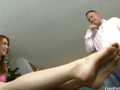 Melody uses her feet to get what she ...