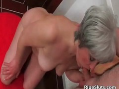 See: Mature slut sucks on h...