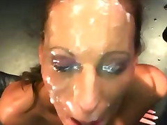 Fetish cum slut fuck and bukkake facials