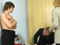 Humiliating nude job interview for el...