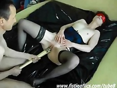 brutal, fetish, pussy, wife, bizarre, gape, weird, dildo, toy, domination, insertion, slut