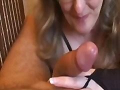 Tube8 - Busty amateur wife handjob and blowjob with cum in mouth