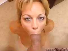 Tube8 - Horny busty mom blows ...