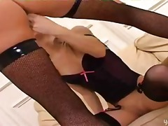lingerie, small tits, fingering