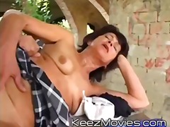 granny, old, blowjob, oral, facial, anal, hardcore, outdoors, mature