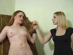 Blonde mistress spanks... video
