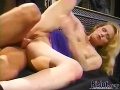 This slut slamming big...