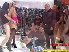 group, blonde, cum, gangbang, facial, jizz