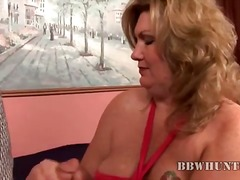 Fat milf jacking ...