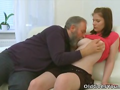 sandra romain,  hairy, threesome,