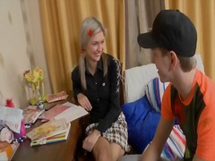Girl seduces guy and e... video