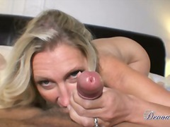 Devon lee gives her man a very good blow job that chap cannot resist
