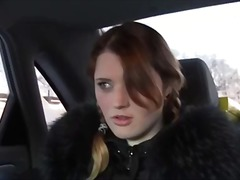 Teen amateur girls sex in the car