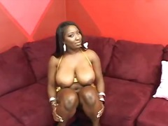 ebony, titjob, big boobs, oral,