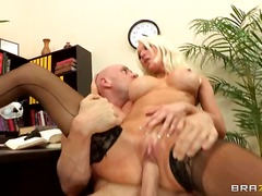 couple, office, stockings, babe, shaved, table, tits, hardcore, boobs, blonde