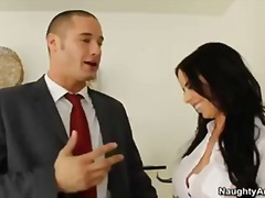 Hot secretary with big...