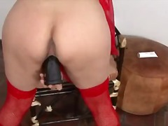 milf, toys, brunette, solo, nylons, boobs, masturbation, dildo, orgasm, natural, latin
